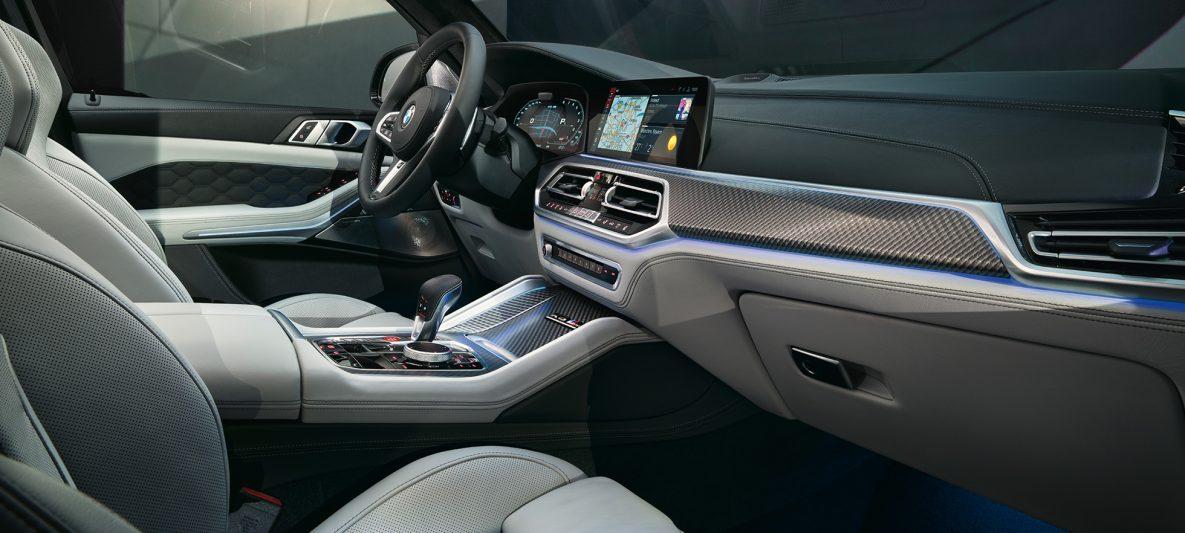 BMW X5 M Competition Mittelkonsole mit M Gangwahlschalter F95 Interieur